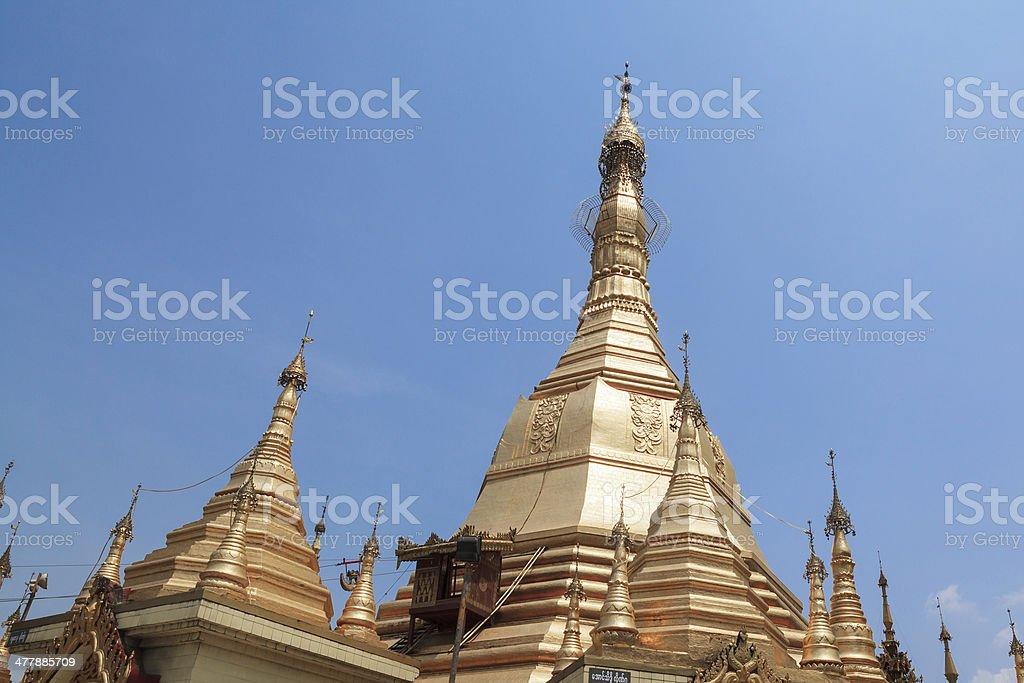 Sule pagoda in Yangon, Burma (Myanmar) royalty-free stock photo