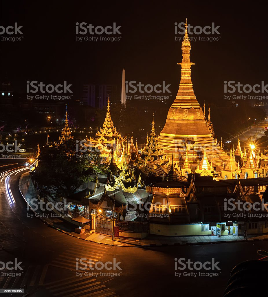Sule Pagoda stock photo