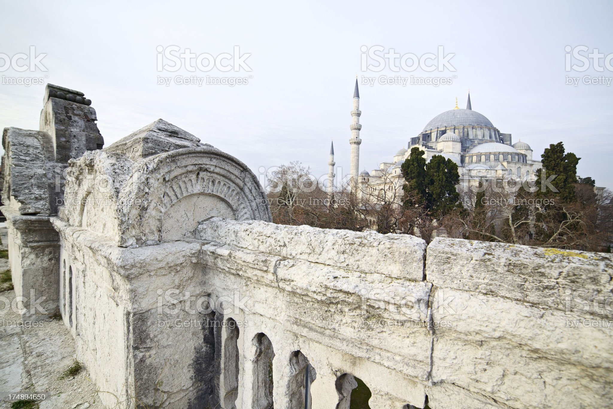 Suleiman's Mosque, Istanbul, Turkey royalty-free stock photo