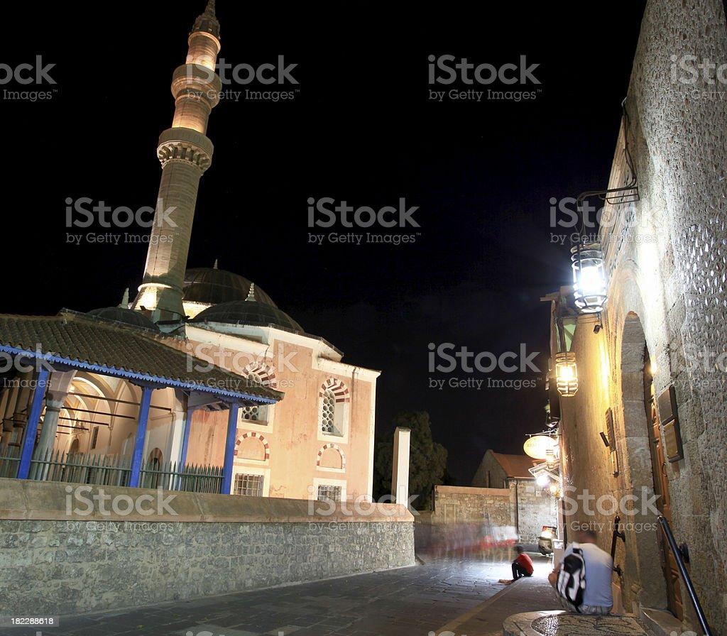 Suleimans mosque minaret stock photo
