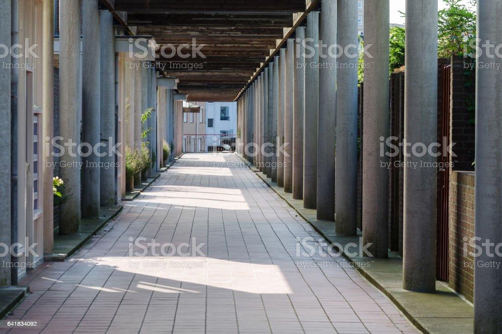 Säulengang oder auch Kolonnade genannt stock photo