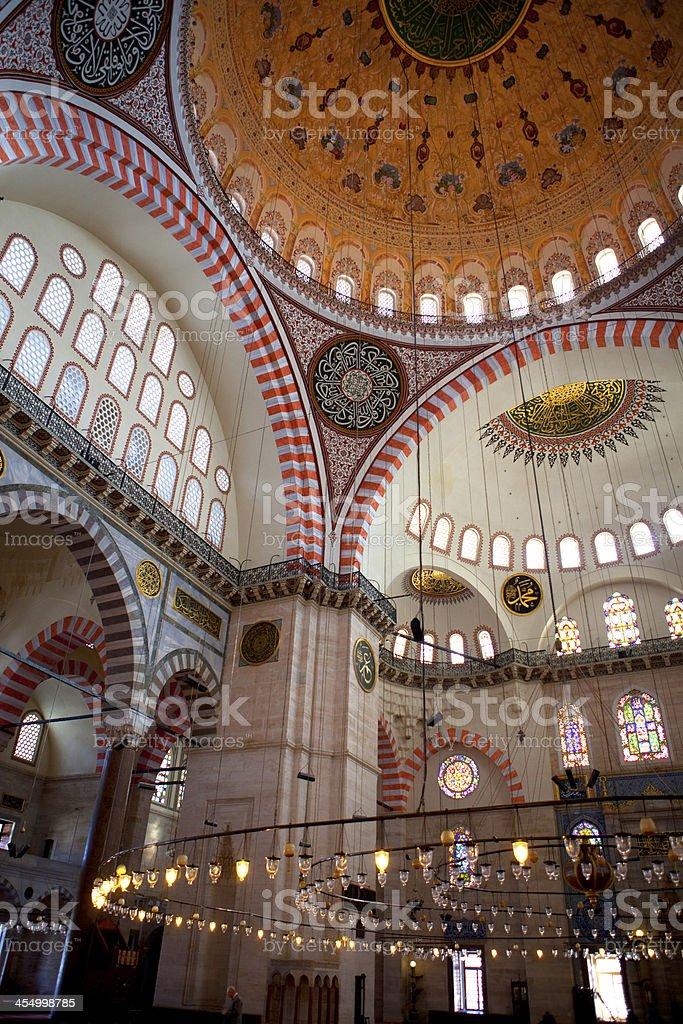 Suleyman Mosque in Istanbul Turkey stock photo