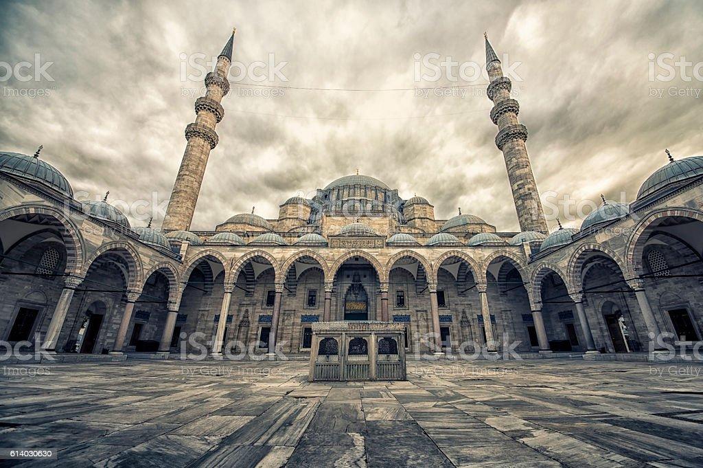 Suleymaniye Camii  mosque in Istanbul stock photo