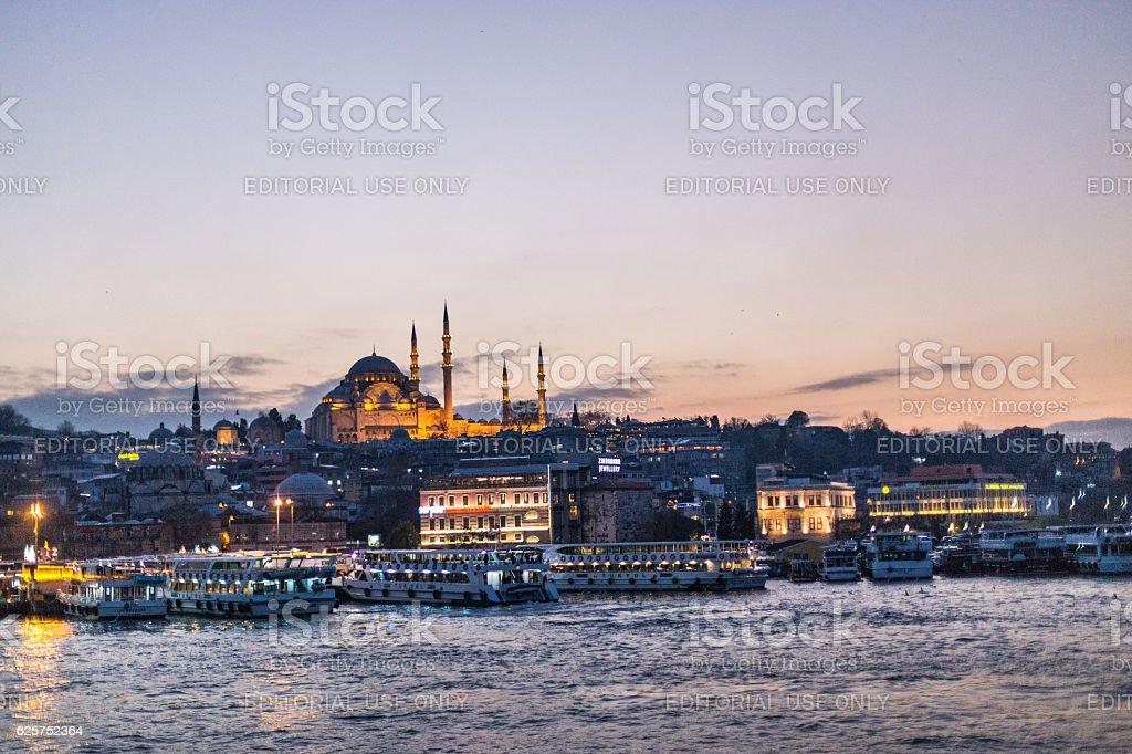 Suleymaniye Mosque in Eminonu stock photo