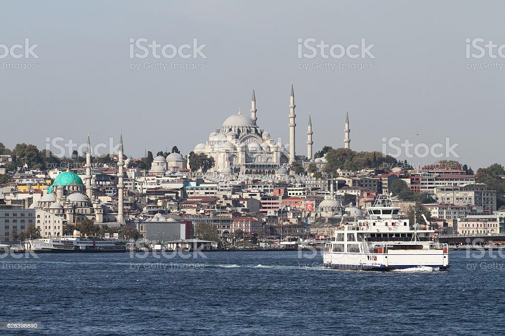 Suleymaniye Mosque in Istanbul City stock photo