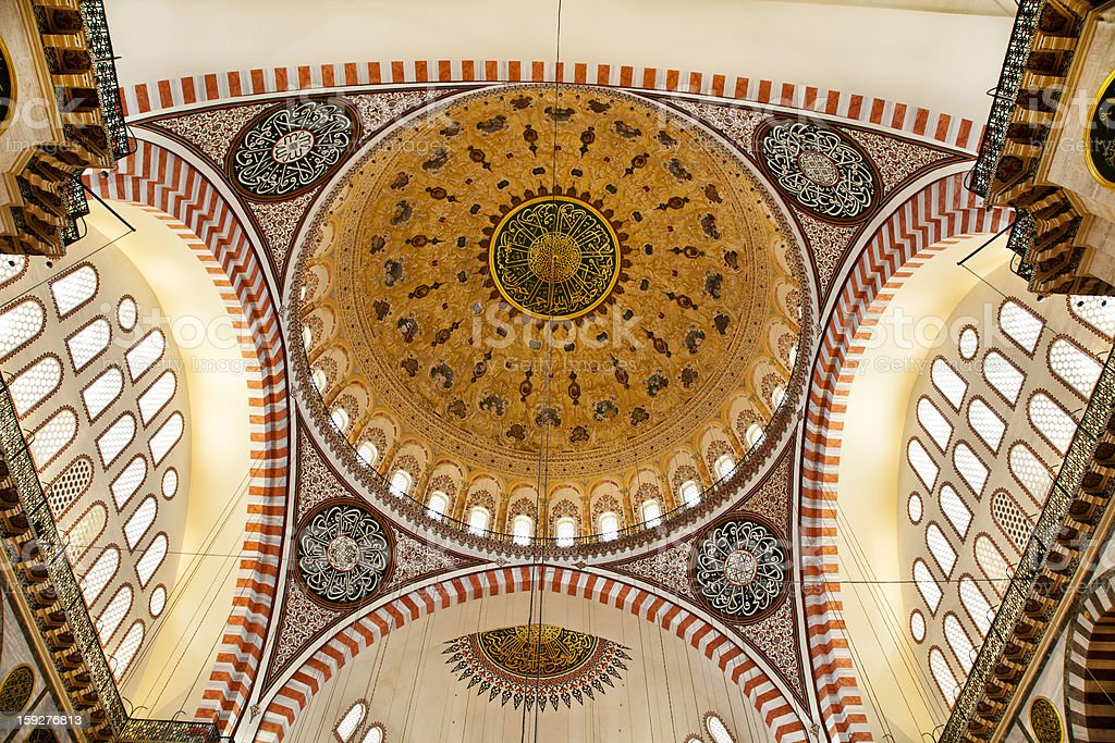 Suleymaniye Mosque in Istanbul Turkey - dome royalty-free stock photo