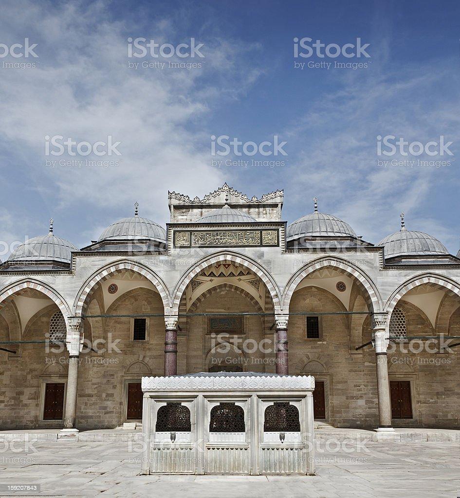 Suleymaniye Mosque in Istanbul Turkey - innercourt stock photo