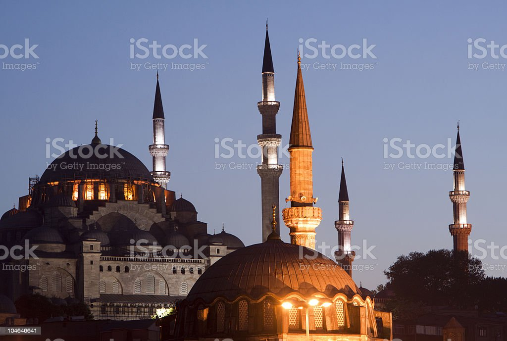 Suleymaniye Mosque in Istanbul, Turkey royalty-free stock photo