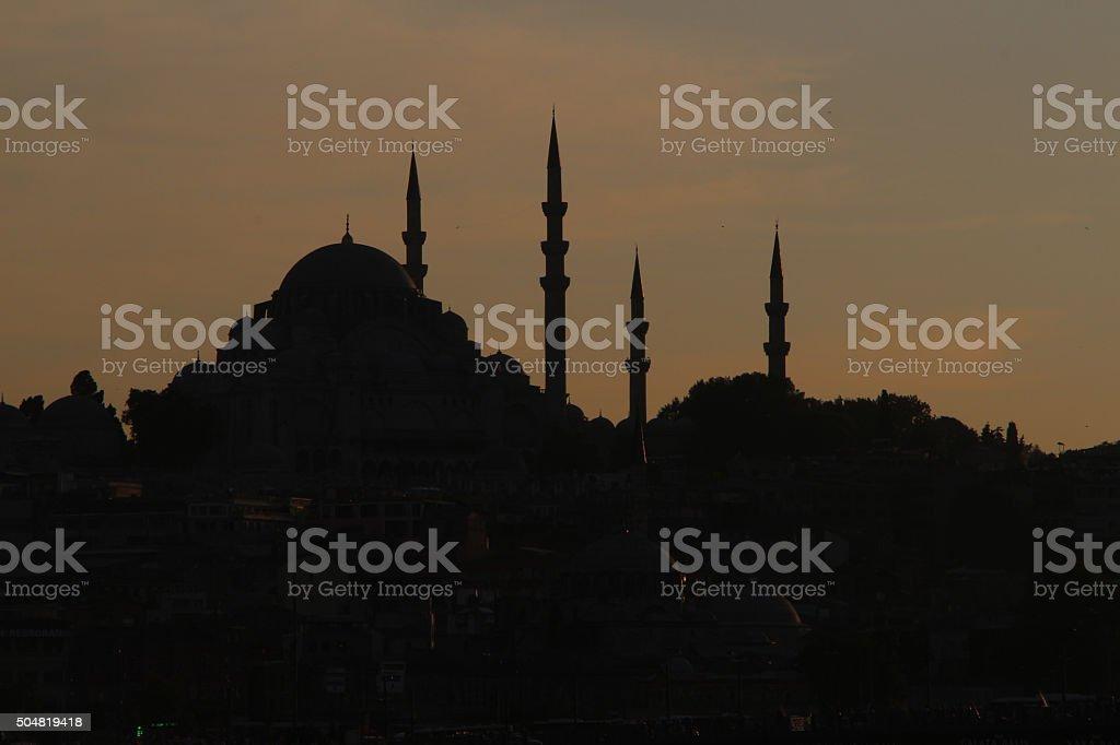 Suleymaniye Mosque in istanbul Turkey. stock photo