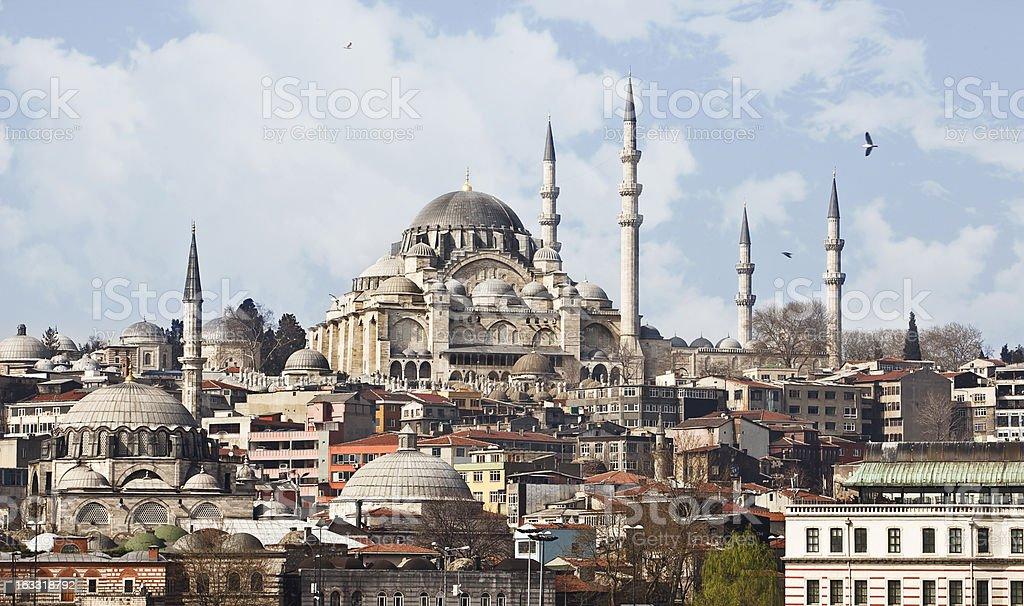 Suleymaniye Mosque - Istanbul royalty-free stock photo