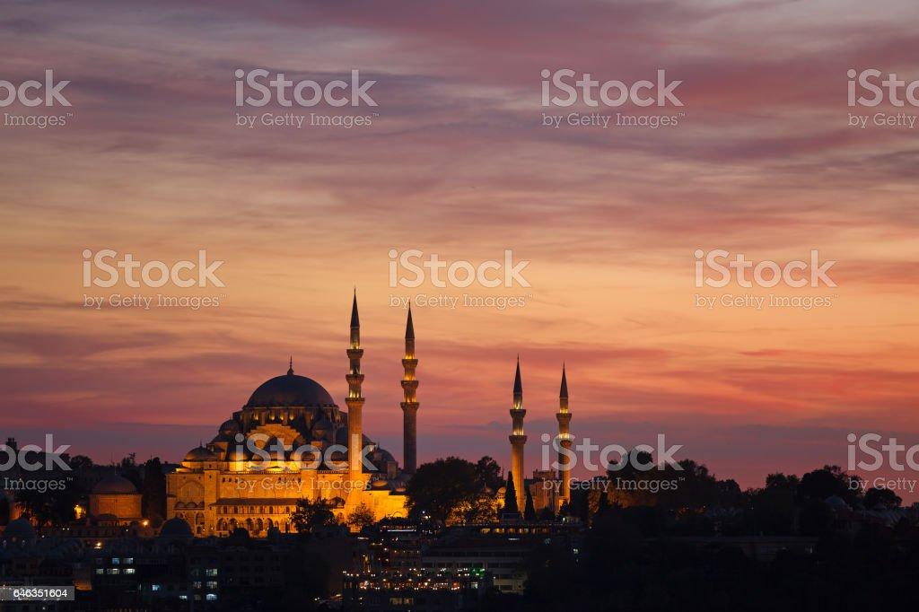 Suleymaniye Mosque Istanbul stock photo