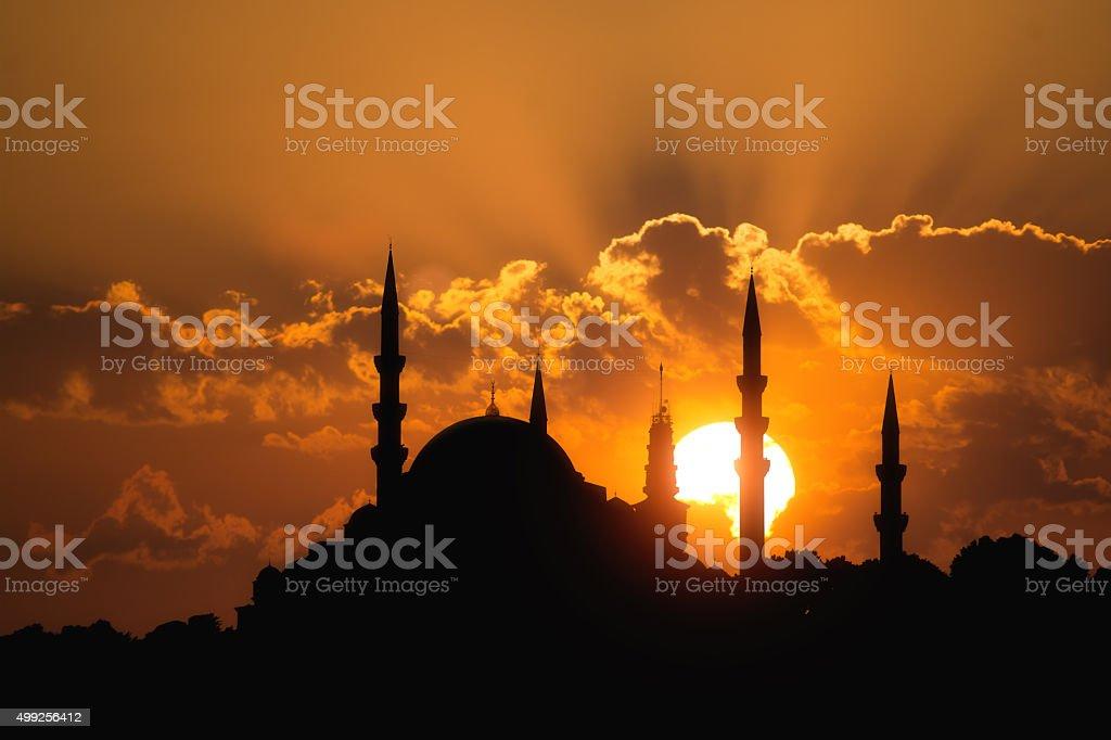 Suleymaniye Mosque Istanbul Turkey stock photo