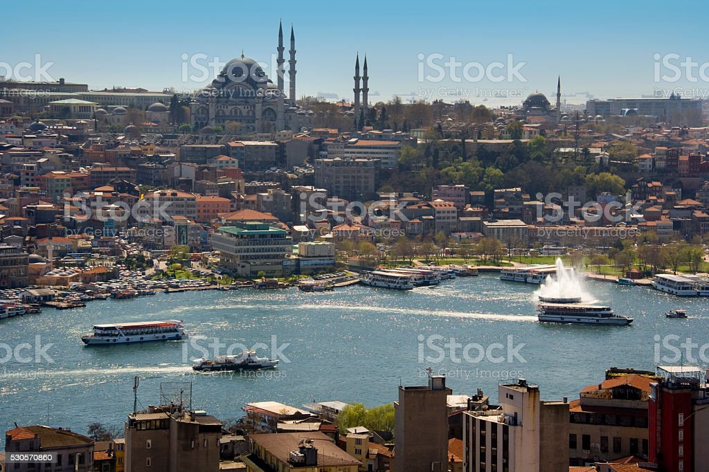 Suleymaniye Mosque - Istanbul - Turkey stock photo