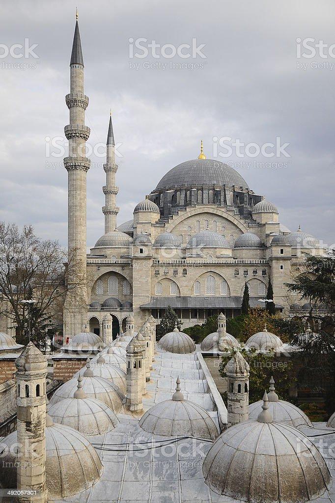 Suleymaniye Mosque,Turkey stock photo