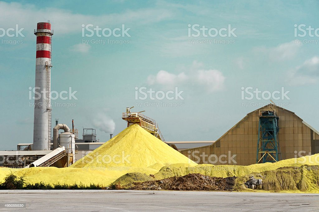 Sulfur Factory stock photo