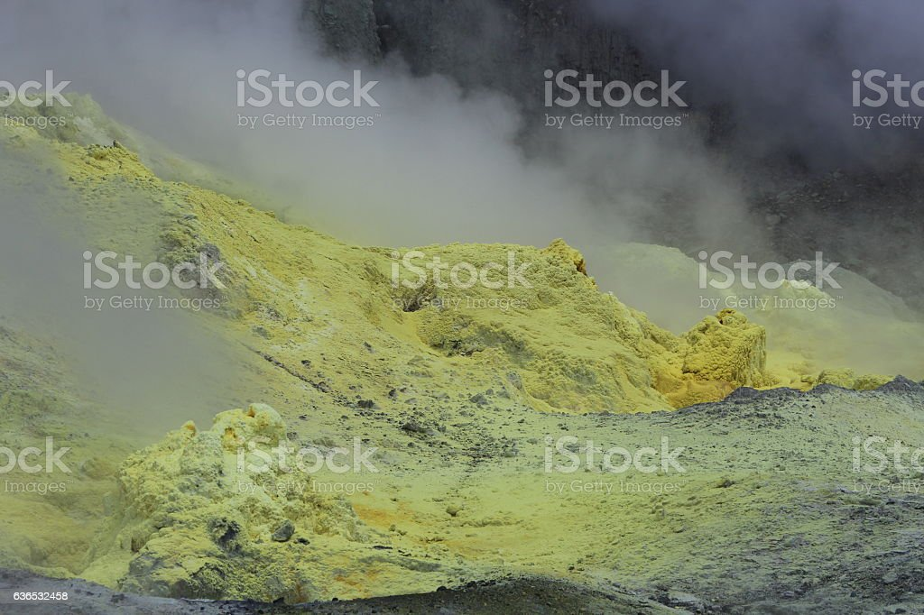 Sulfur Fumarole White Island stock photo