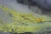 Sulfur Fumarole White Island