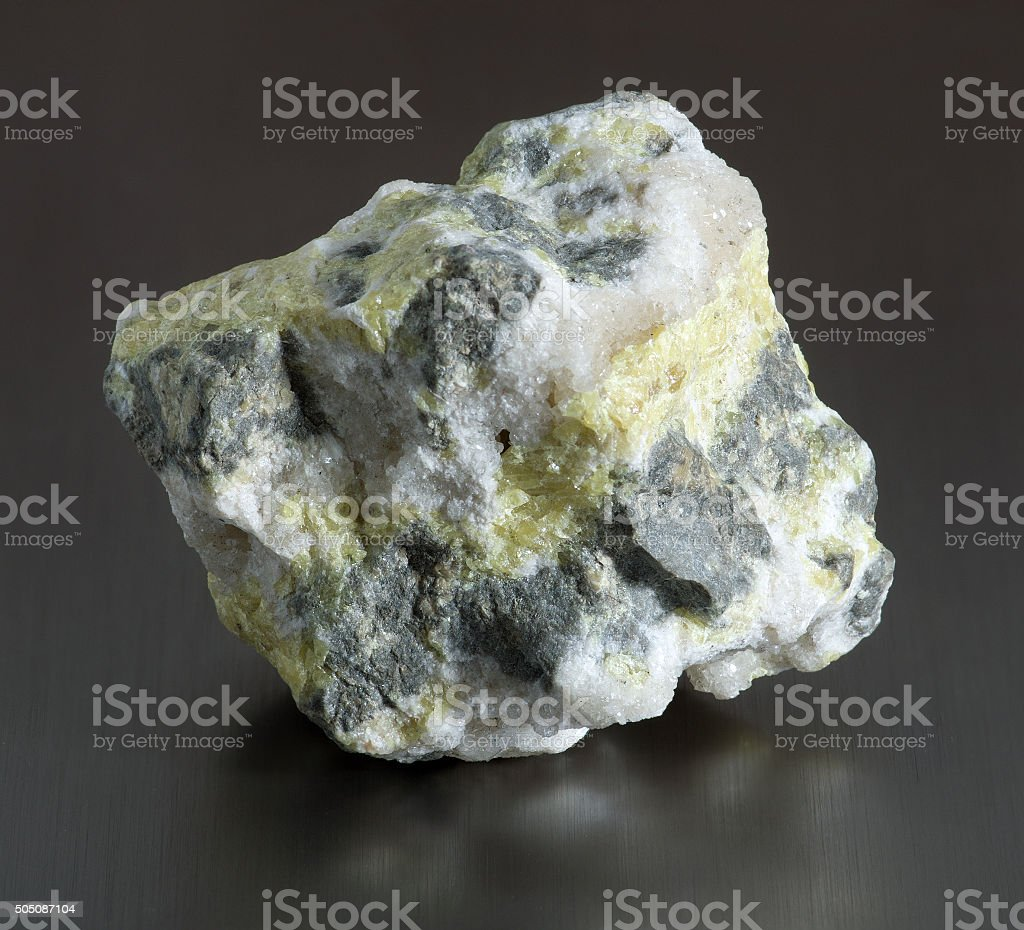 Sulfur (sulphur) in the breed stock photo