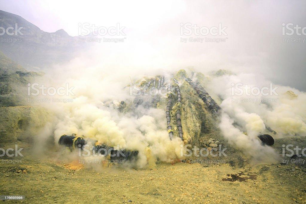 Sulfur Mine stock photo