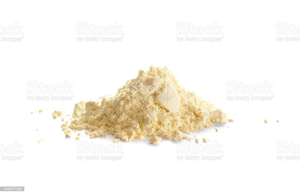 Sulfur, or sulphur, powder stock photo