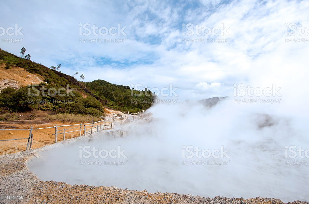 Sulfur Pool Indonesia royalty-free stock photo