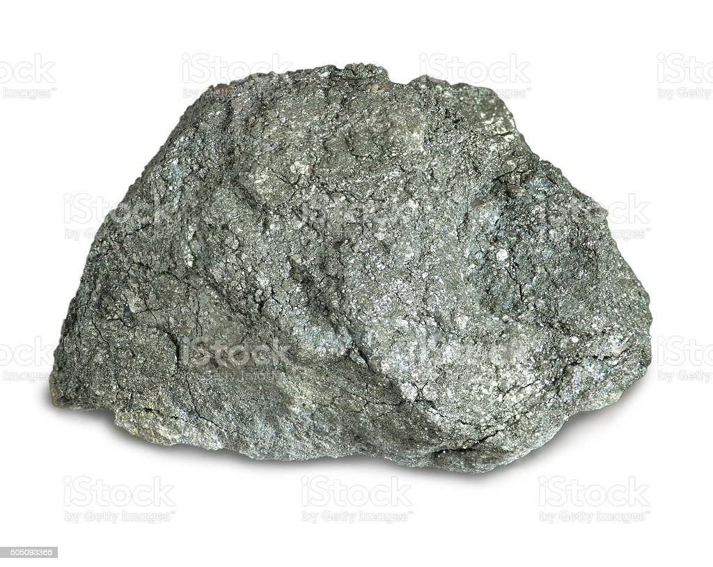 Sulfur pyrite mineral stock photo