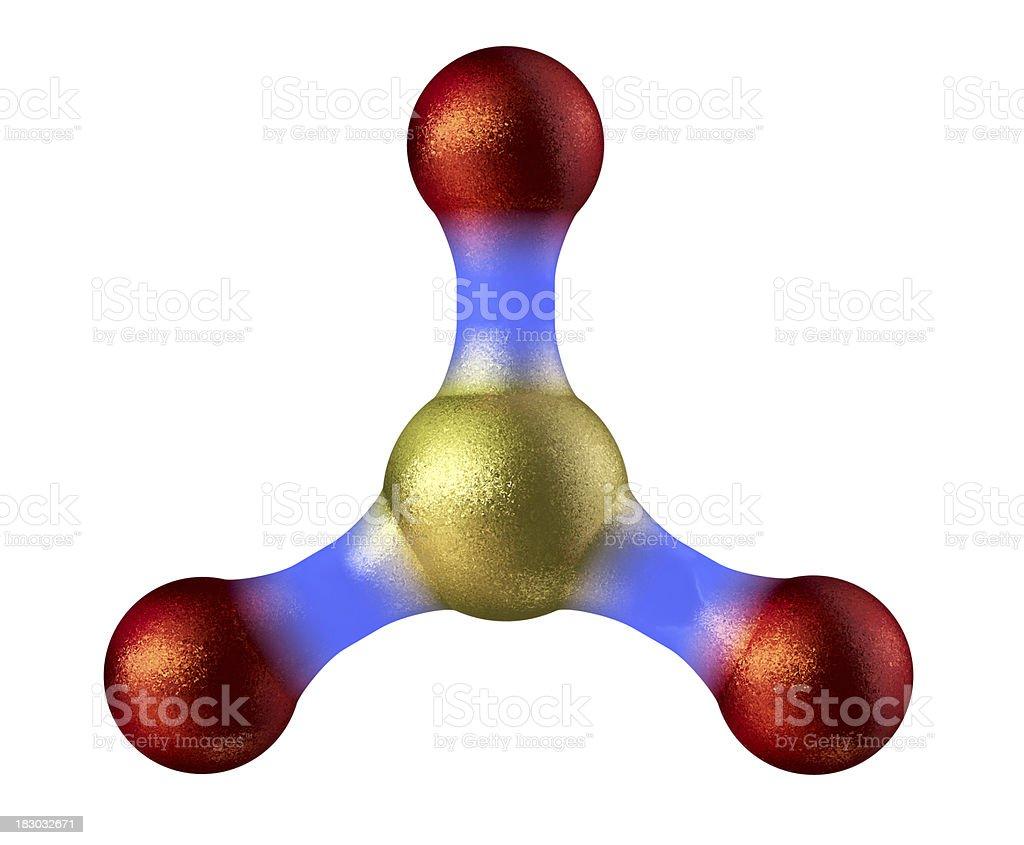 Sulfur (Sulphur) Trioxide stock photo