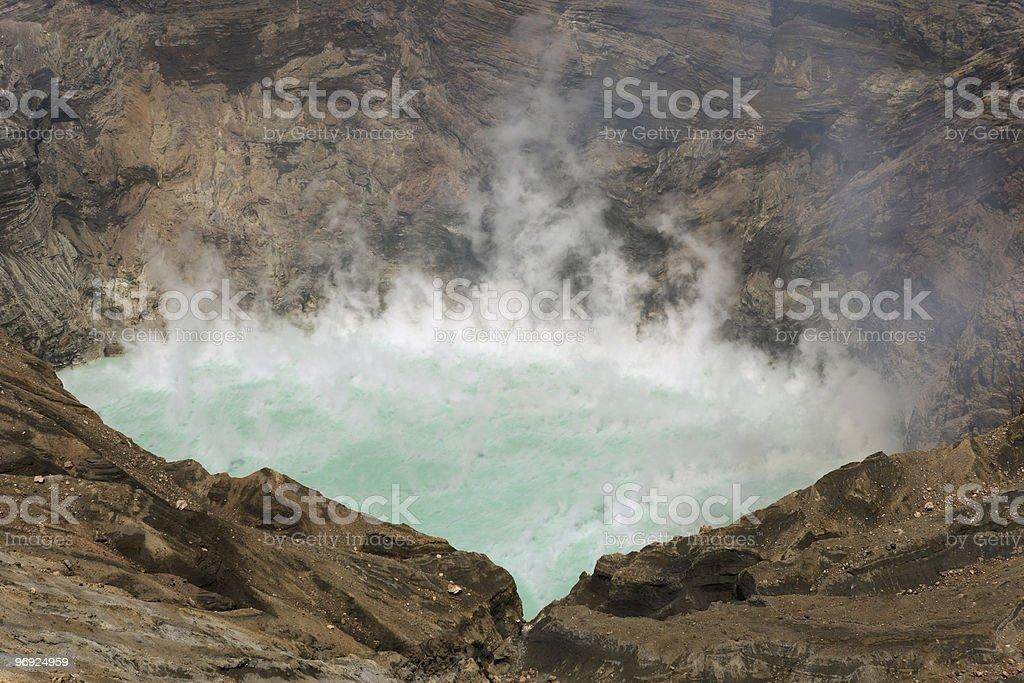 Sulfuric Volcano Lake royalty-free stock photo