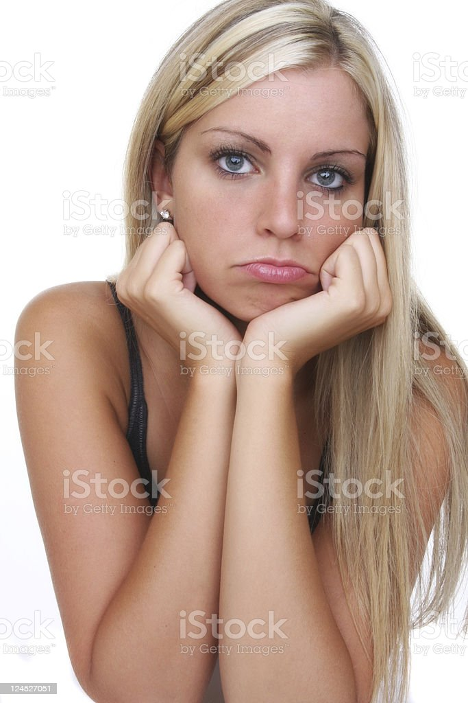 sulking royalty-free stock photo