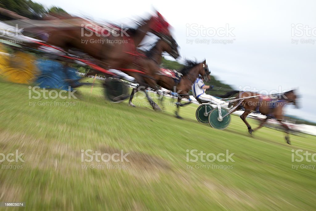 Sulky Racing, Motion Blur royalty-free stock photo