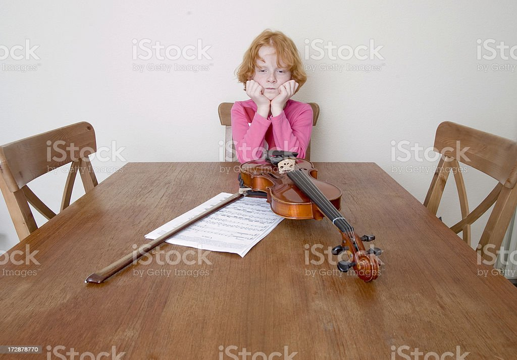 sulky violin player royalty-free stock photo