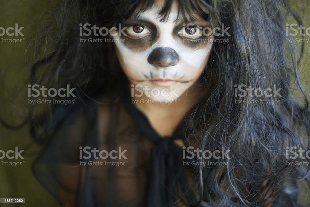 Sullen girl royalty-free stock photo