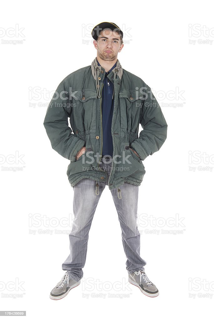 Sullen young homeless royalty-free stock photo