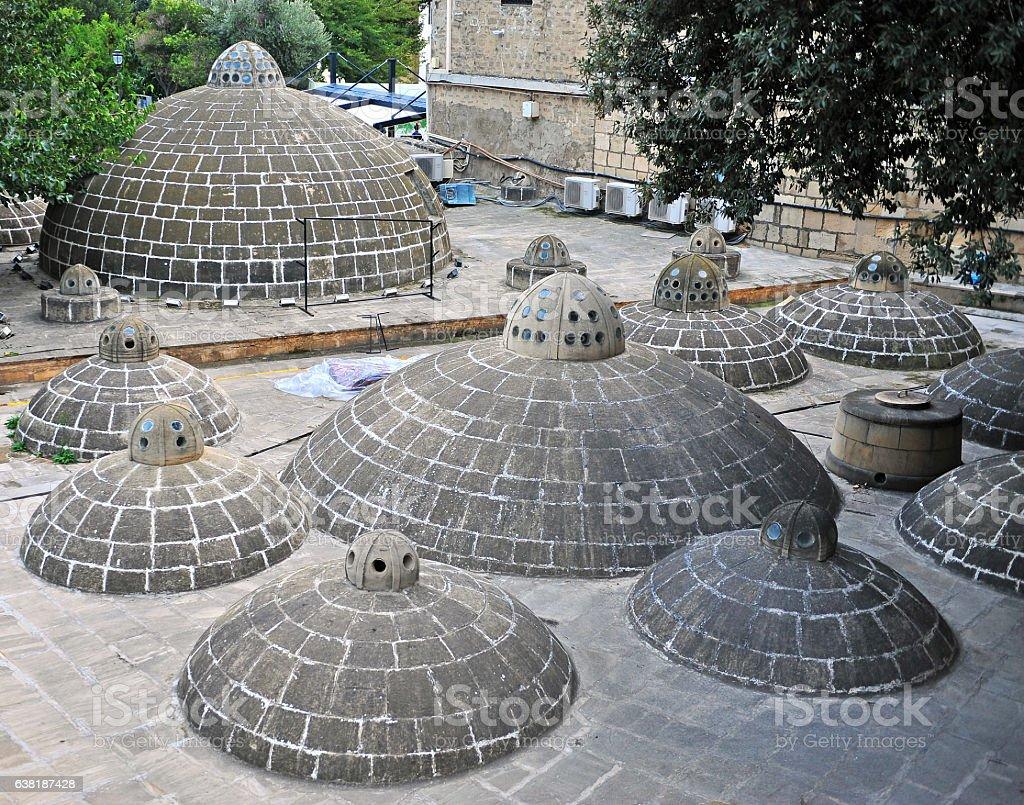 Sulphur bath in Baku old town stock photo