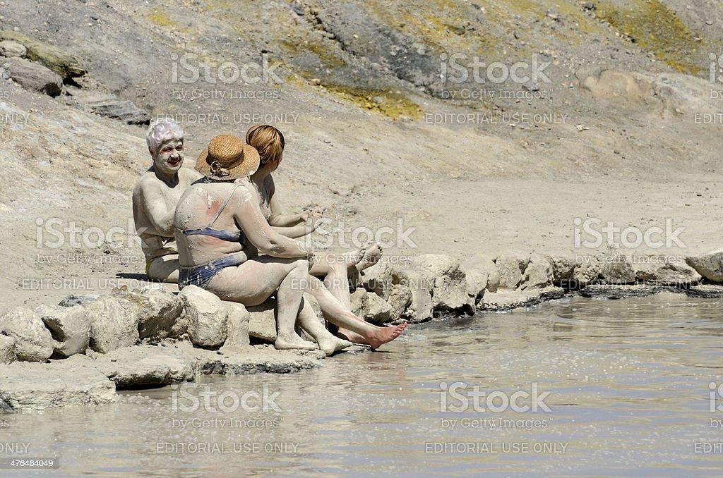 Sulphur baths stock photo