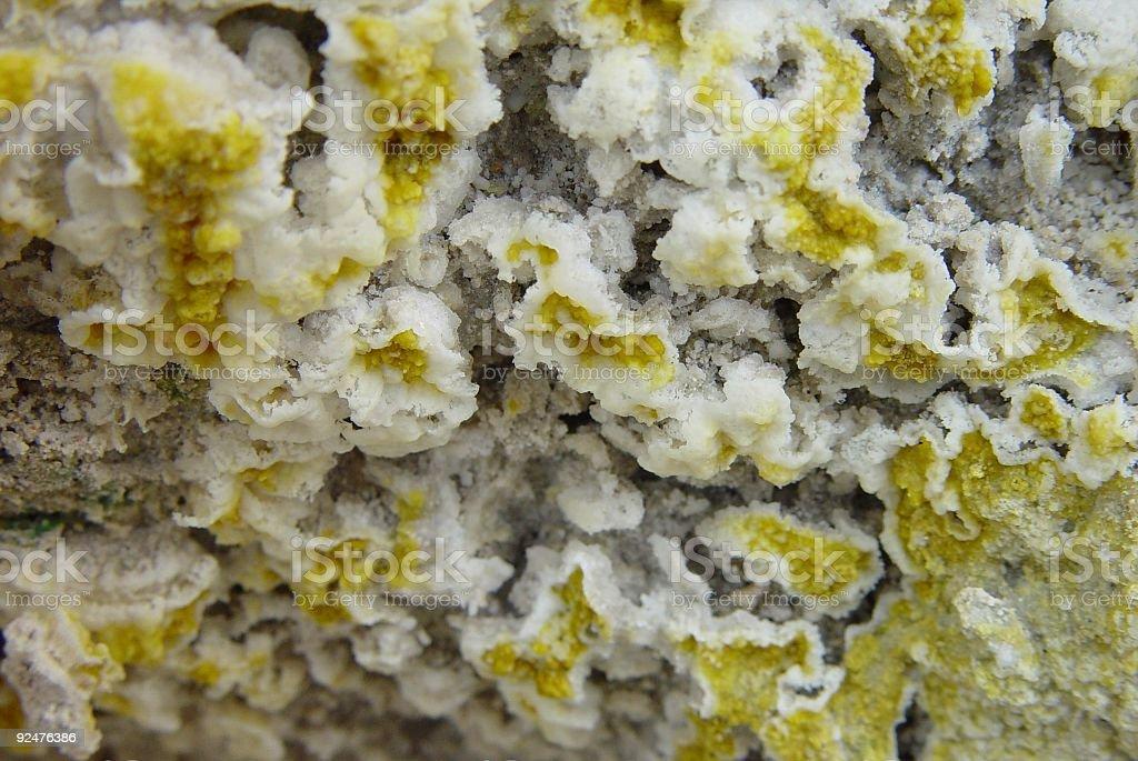 Sulphur Crystal, Close-up stock photo