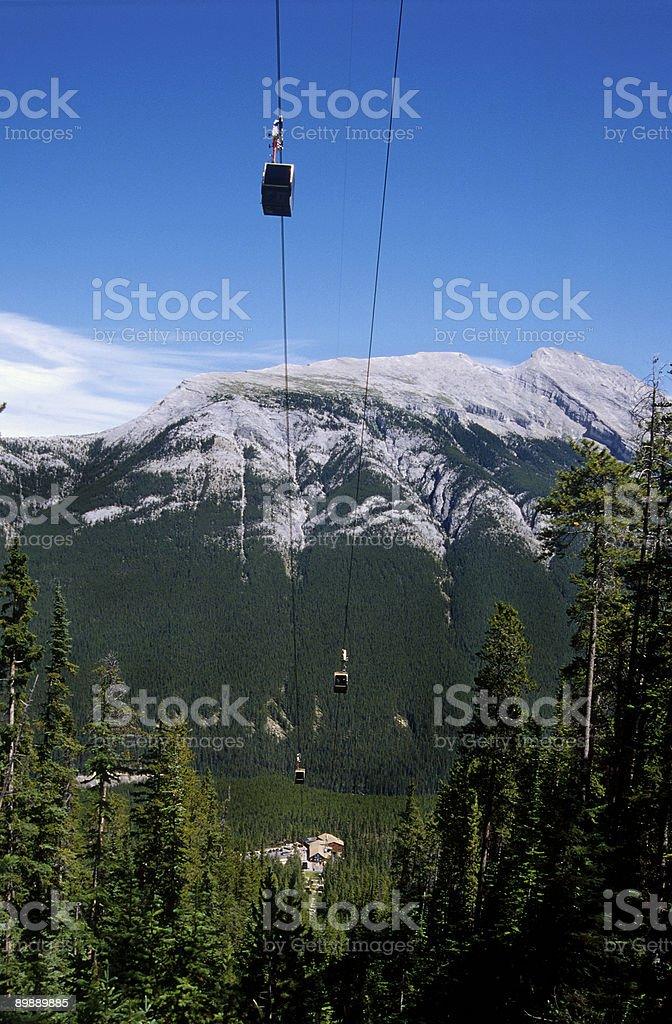 Sulphur Mountain cable-car stock photo