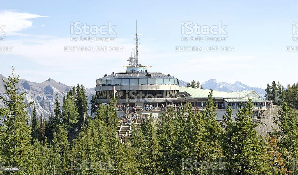 Sulphur Mountain Gondola Lookout 2 stock photo