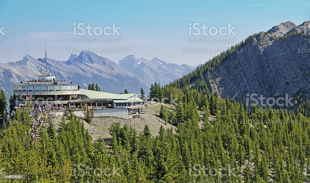 Sulphur Mountain Gondola Lookout 4 stock photo