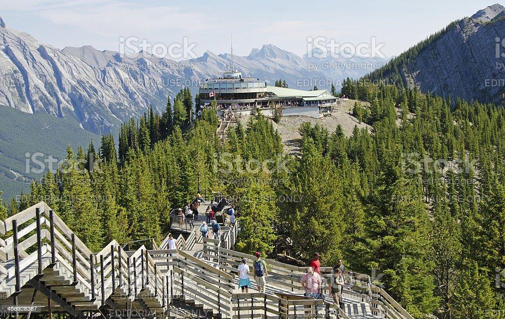 Sulphur Mountain Gondola Lookout and Walkway 2 stock photo