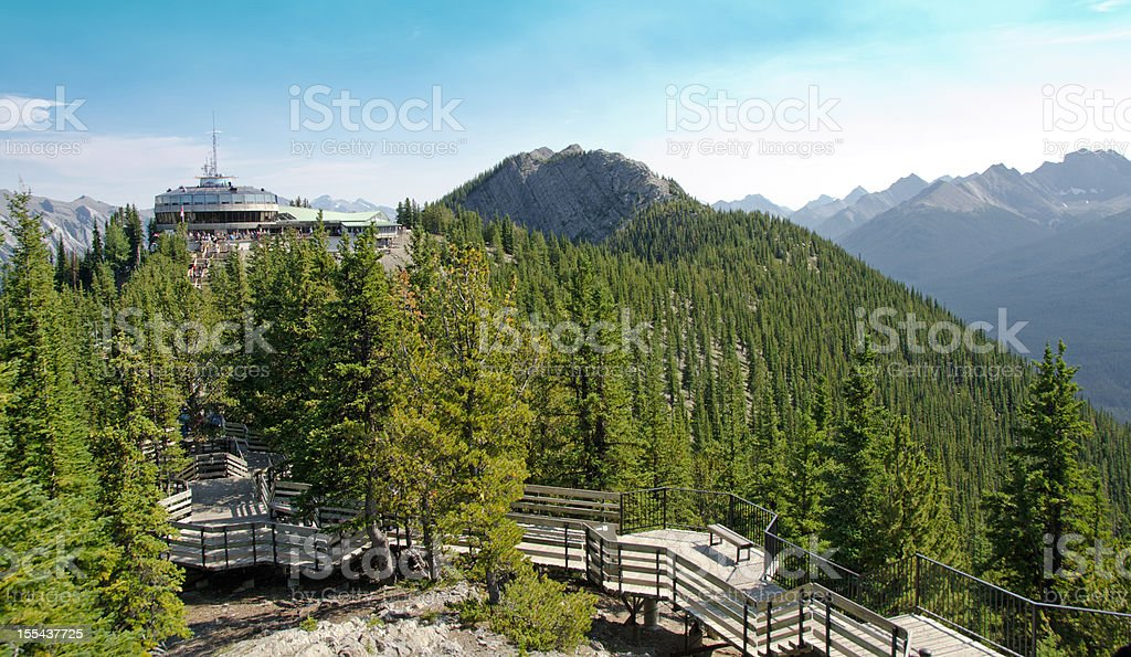Sulphur Mountain Gondola Lookout stock photo
