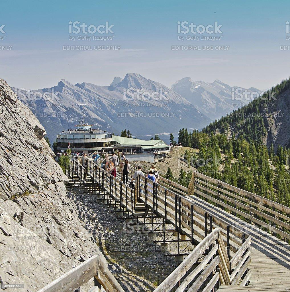 Sulphur Mountain Gondola Lookout Walkway 3 stock photo