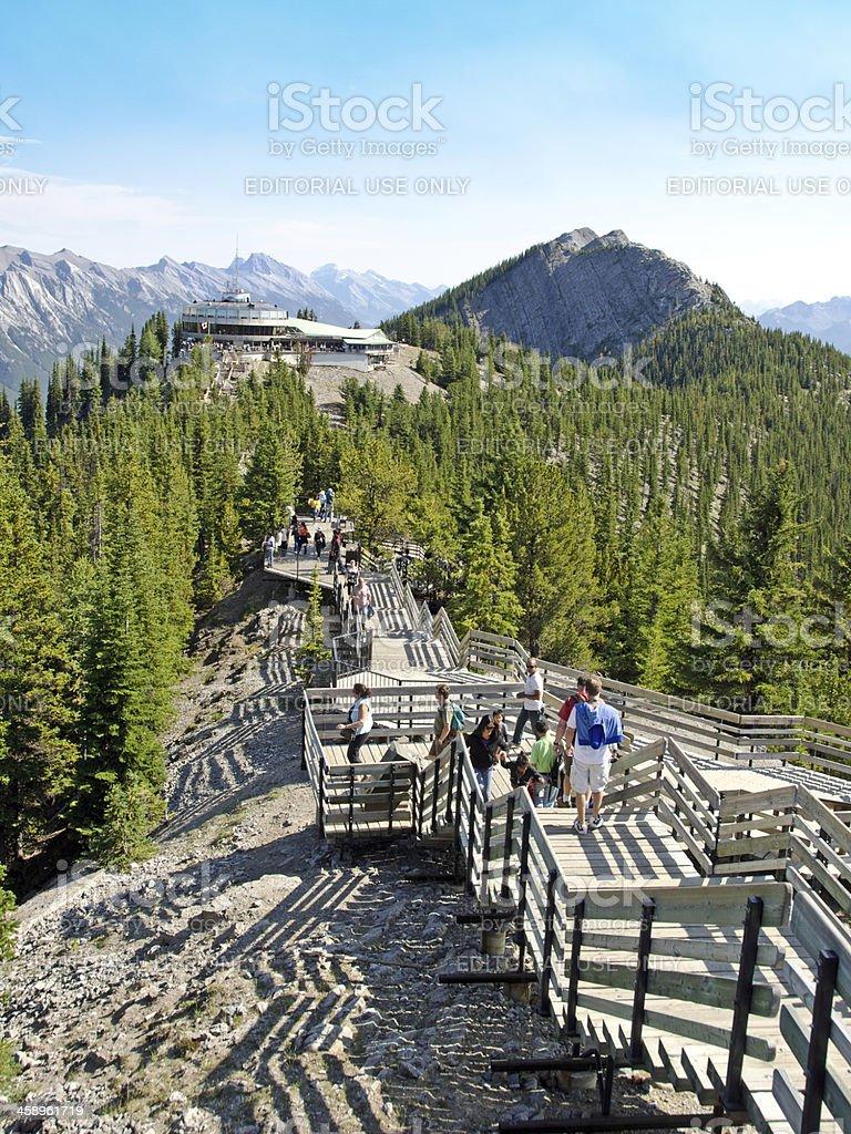 Sulphur Mountain Gondola Lookout Walkway stock photo