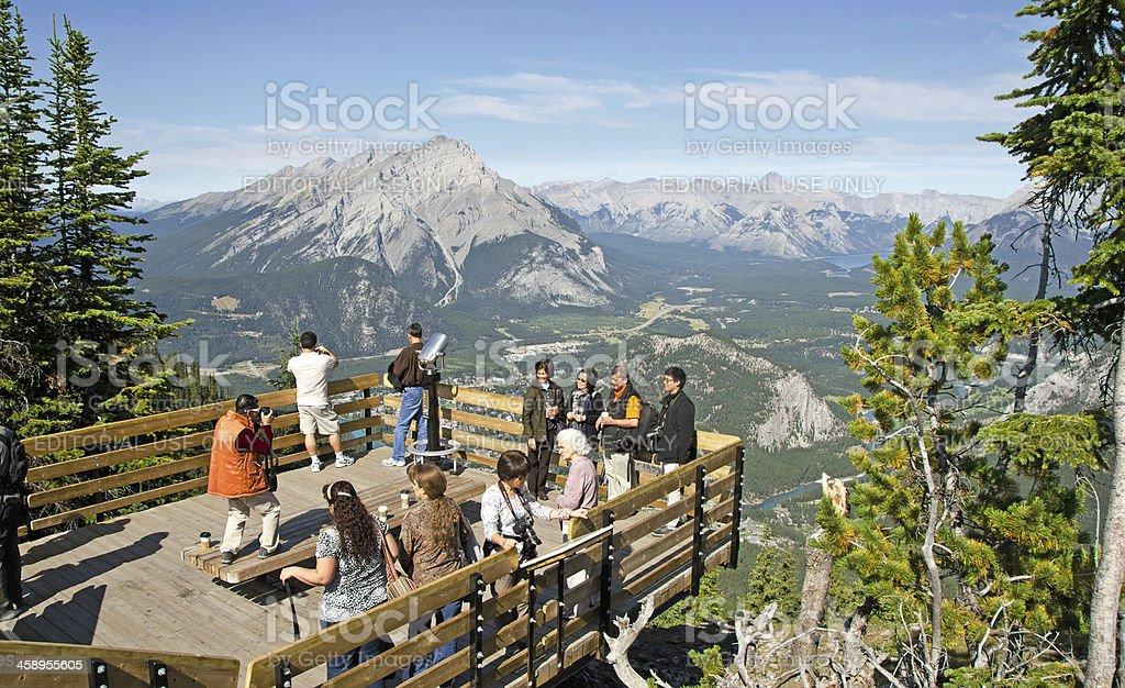 Sulphur Mountain Gondola Lookout Walkway Resy Area royalty-free stock photo