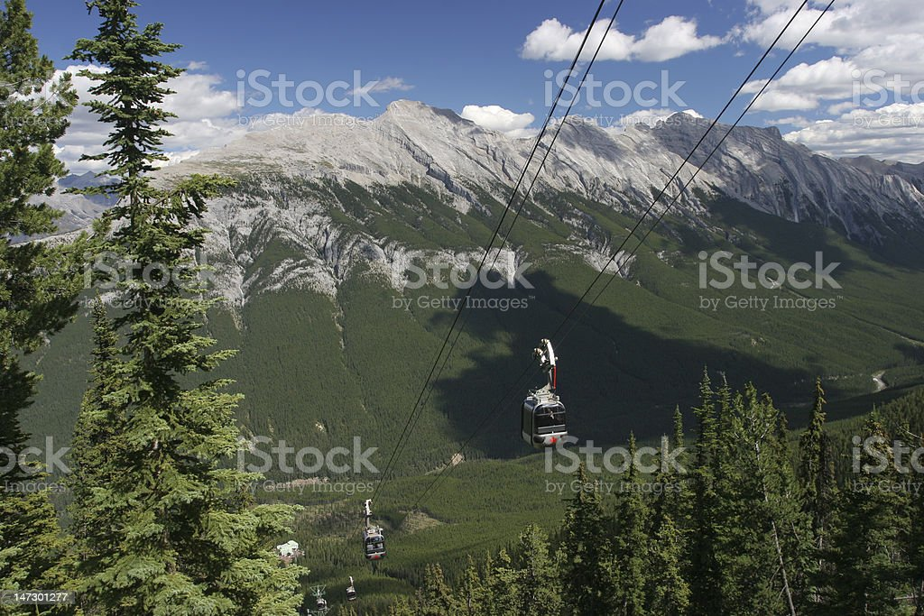 Sulphur Mountain Gondolas, Banff National Park stock photo