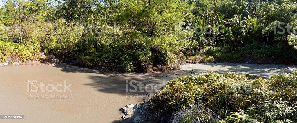 sulphurous lakes near Manado, Indonesia stock photo