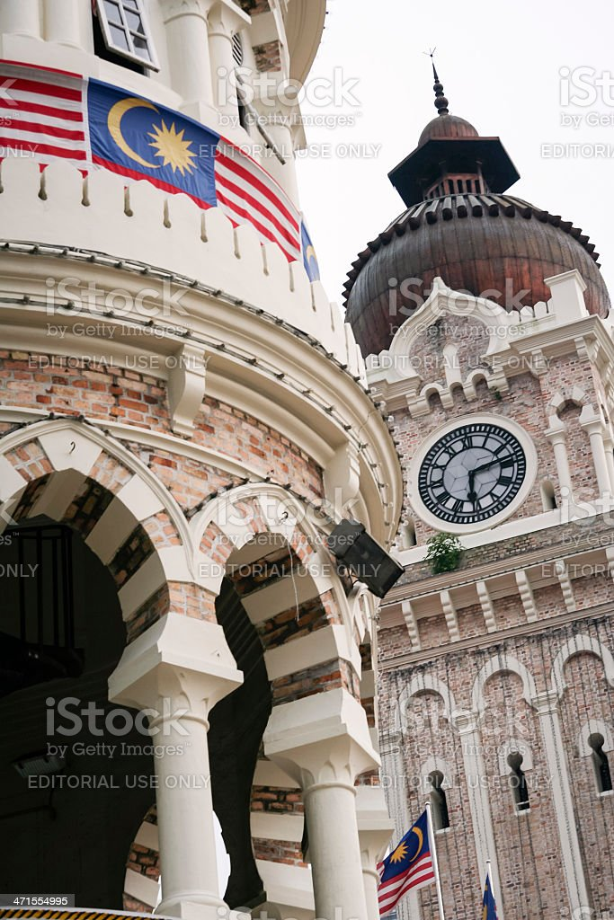Sultan Abdul Samad Building KL royalty-free stock photo
