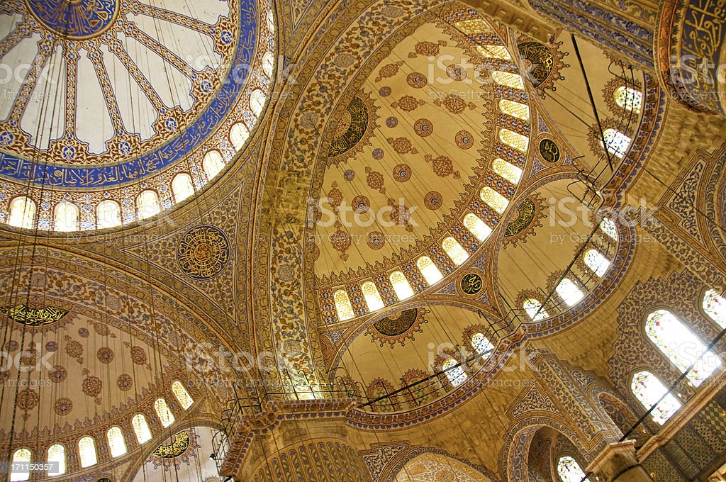 Sultan Ahmed - Blue Mosque Ceiling royalty-free stock photo