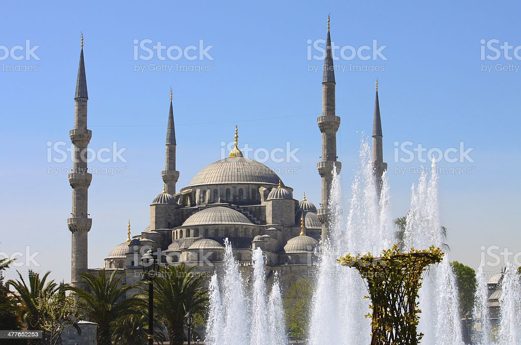 Sultan Ahmed Blue Mosque Istanbul Turkey royalty-free stock photo