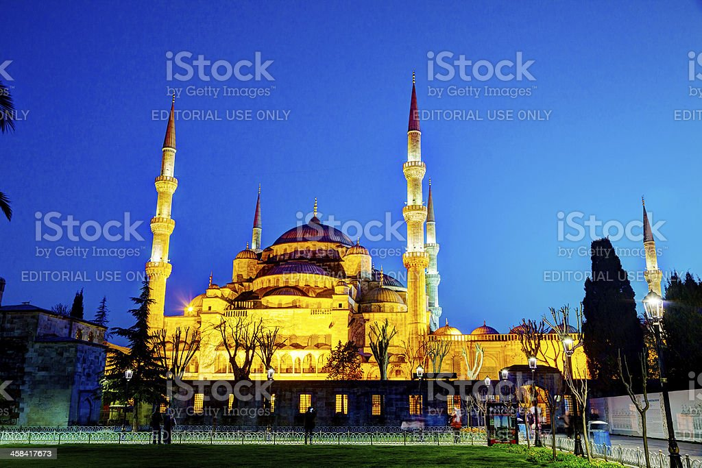 Sultan Ahmed Mosque (Blue Mosque) in Istanbul royalty-free stock photo